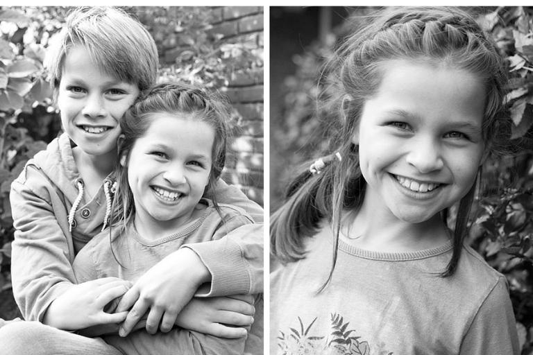 familiefotografie op locatie; broer en zus - blog