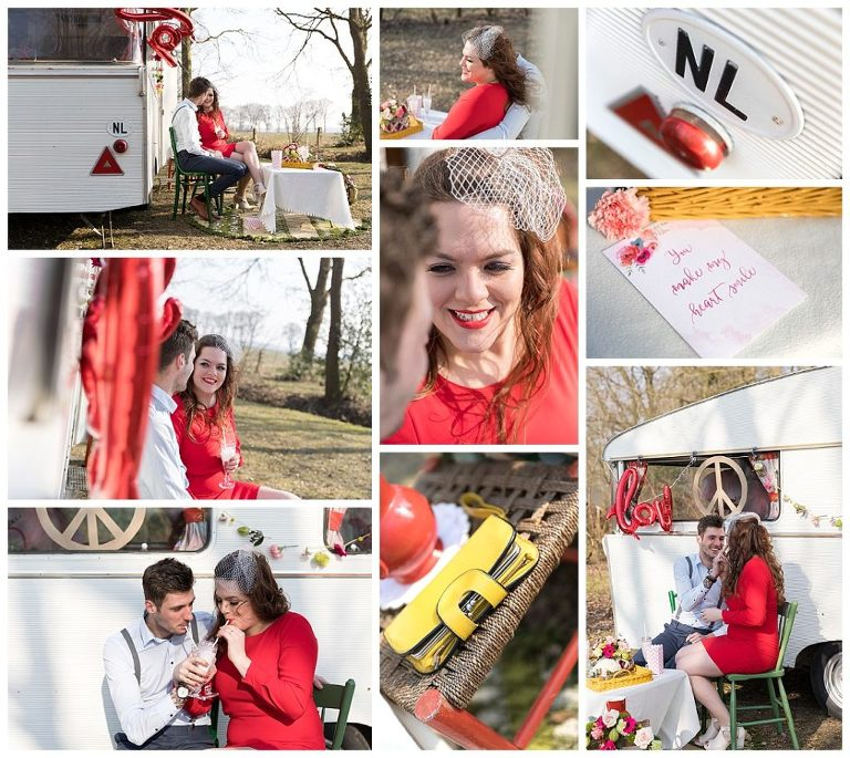 collage styled shoot sweet sixties buiten