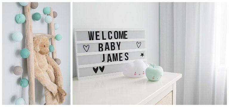 welcome baby james lightbox
