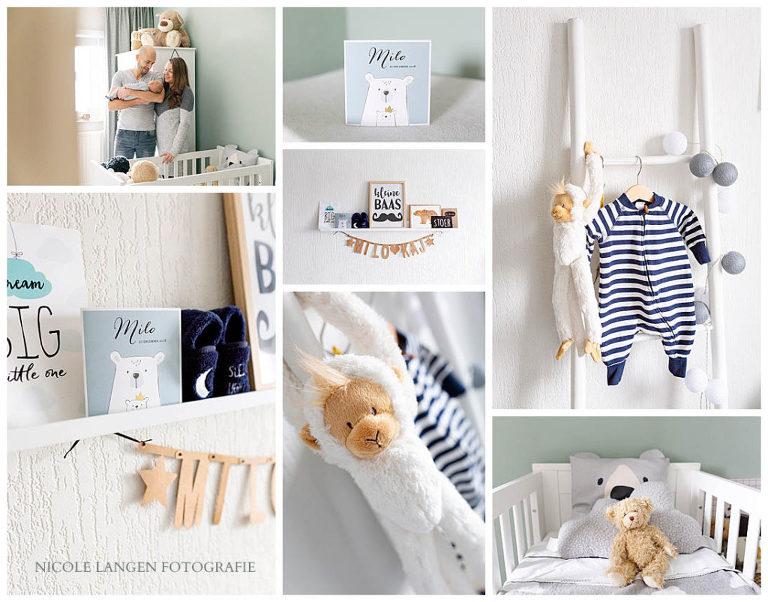 Styling van de babykamer van Milo